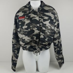 Divided by H&M camo military Jacket size 8